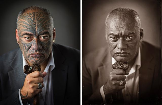 3a9e391cf Portraits of People Whose Traditional Māori Tattoos Disappear in Wet Plate  Photos