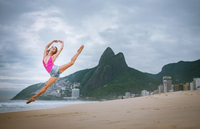 Ballet Dancers on the Streets of Rio de Janeiro Demonstrate