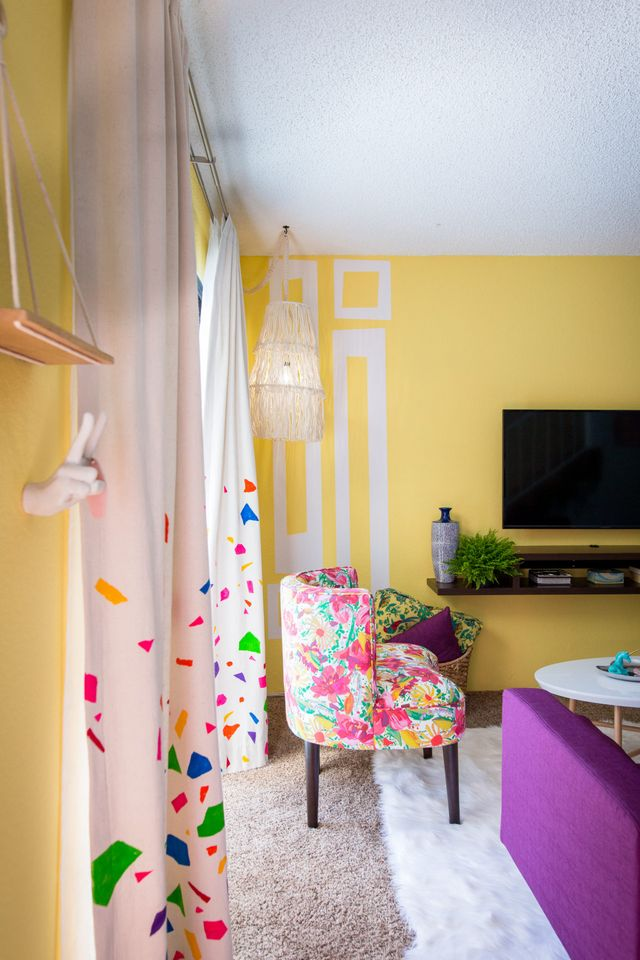 Diy Confetti Curtains Mr Kate Bloglovin