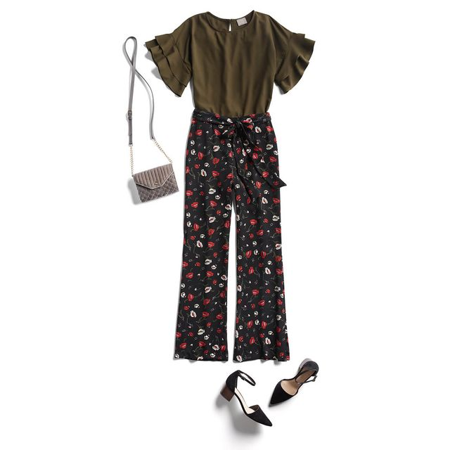 03cc89c9a97 Try a pleated midi-skirt paired with a boxy cropped blouse and a pair of  block heels for the perfect party guest look.