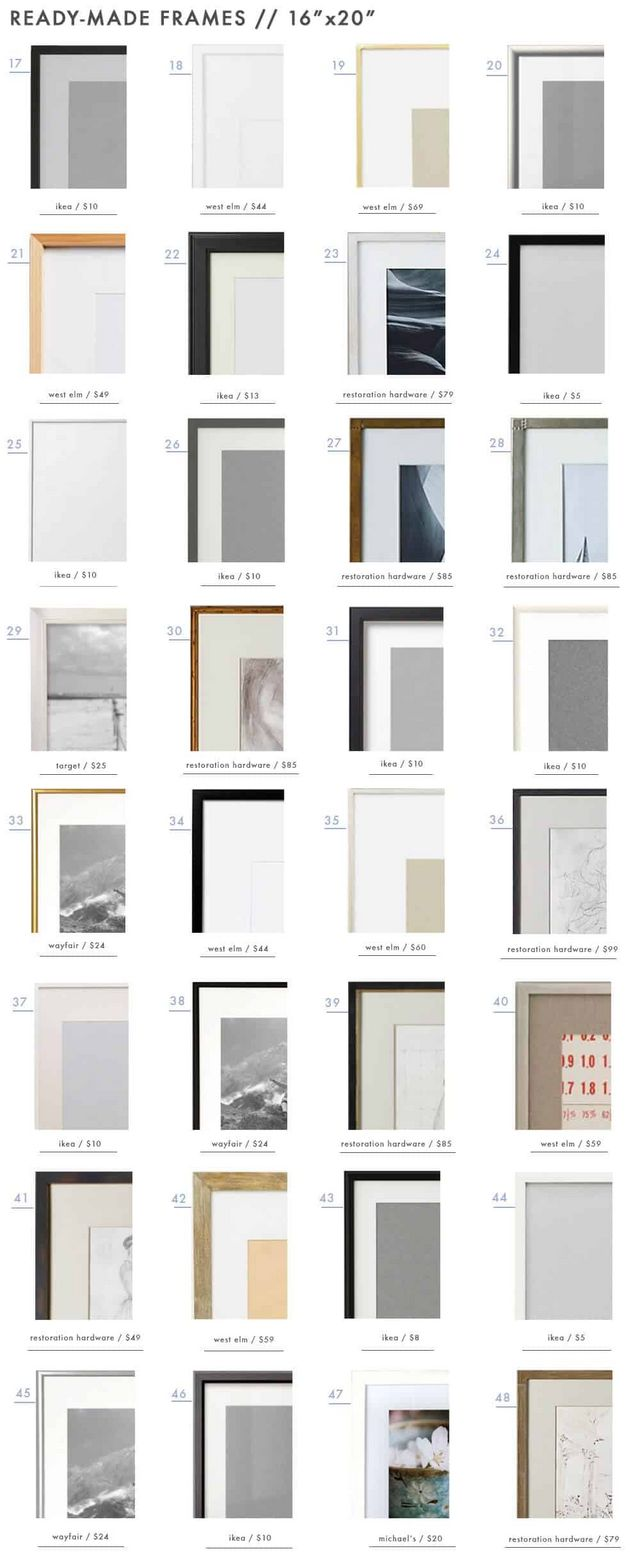 128 Ready-Made Frames to Get You \'Gallery Wall Ready\' | Emily ...