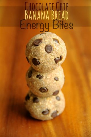 chocolate chip banana bread energy bites . | . running with spoons ...
